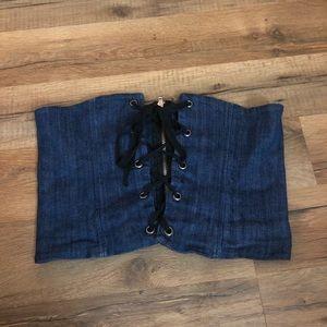 Fashion Nova denim corset belt